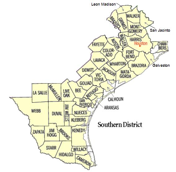 map of usdc southern district of texas brownsville division